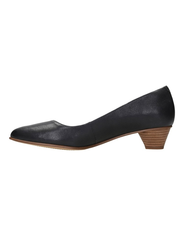 Mena Bloom Black Leather Heeled Shoe image 4