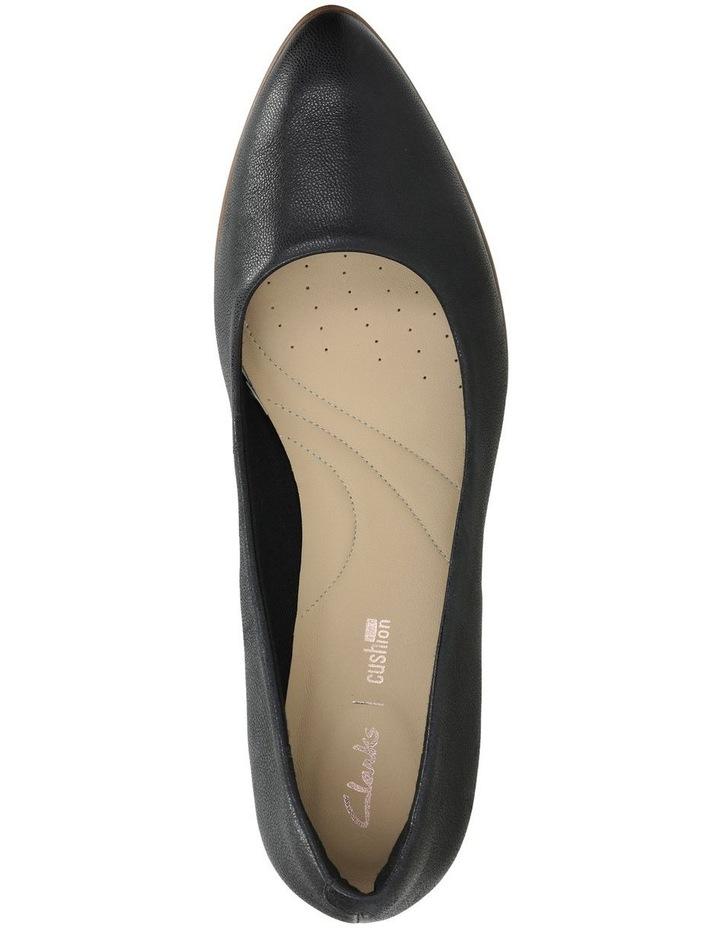 Mena Bloom Black Leather Heeled Shoe image 6