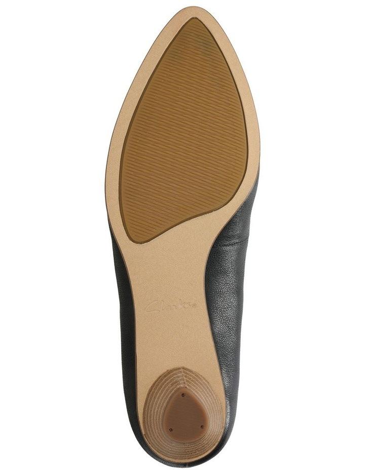 Mena Bloom Black Leather Heeled Shoe image 7