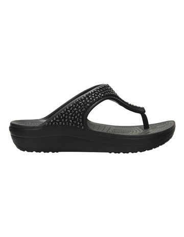 62fe3c6c9 Crocs Sloane Embellished Flip Black Black