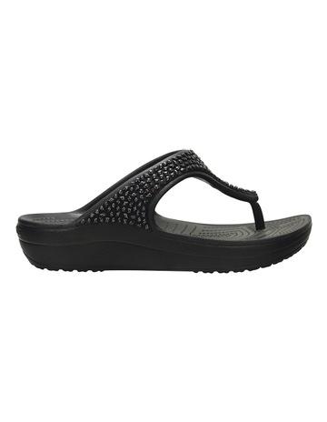c40b480635e0 Crocs Sloane Embellished Flip Black Black