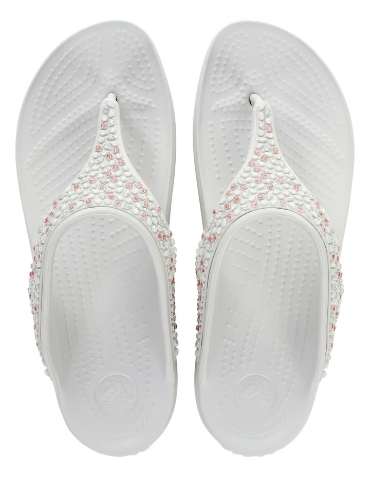 8c7e53093318 Sloane Embellished Flip Pearl White Sandal image 4