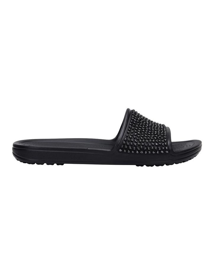 Sloan Embellished Slide Black/Black Sandal image 1