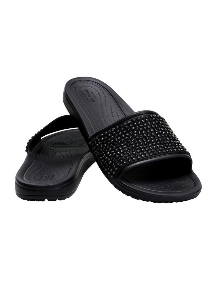 Sloan Embellished Slide Black/Black Sandal image 2
