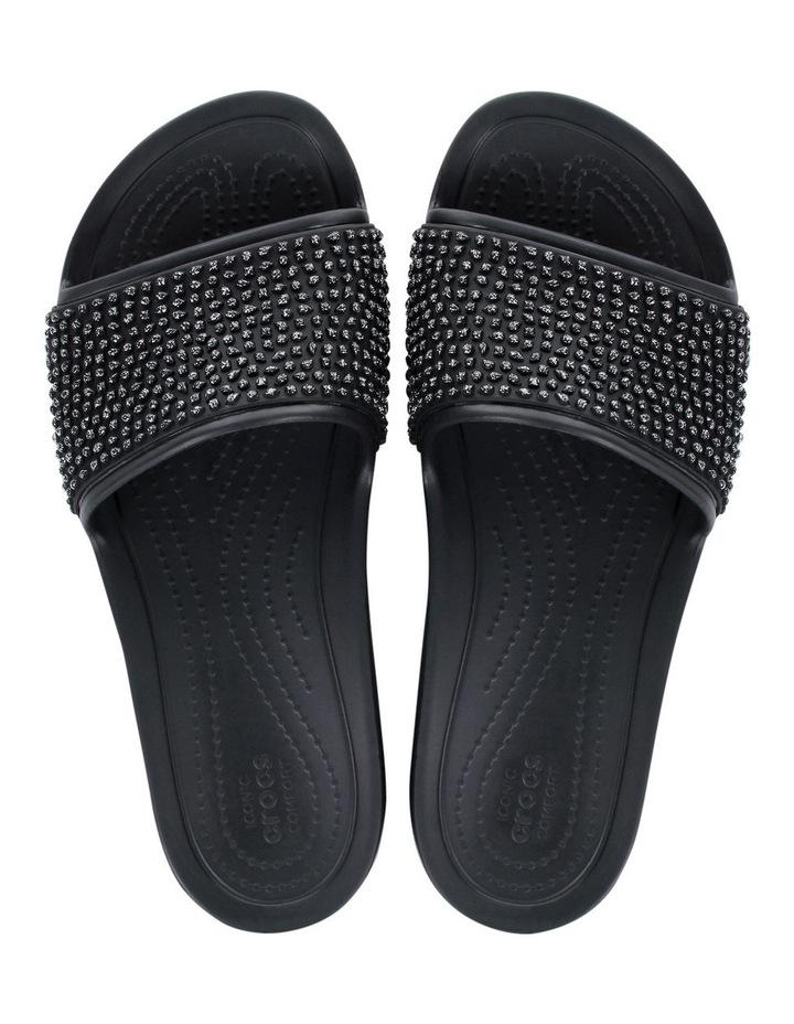 Sloan Embellished Slide Black/Black Sandal image 4