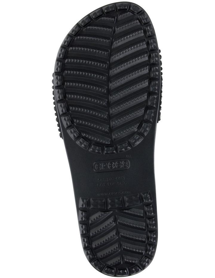 Sloan Embellished Slide Black/Black Sandal image 5