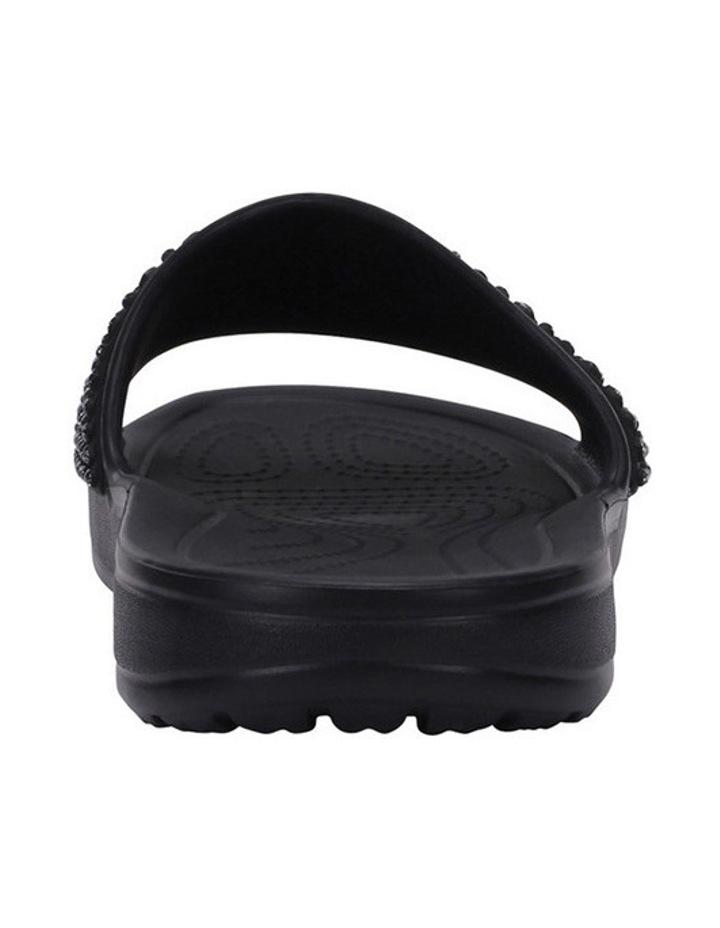 Sloan Embellished Slide Black/Black Sandal image 7