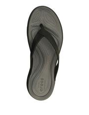 Crocs - Capri V Flip With Black/Graphite Sandal