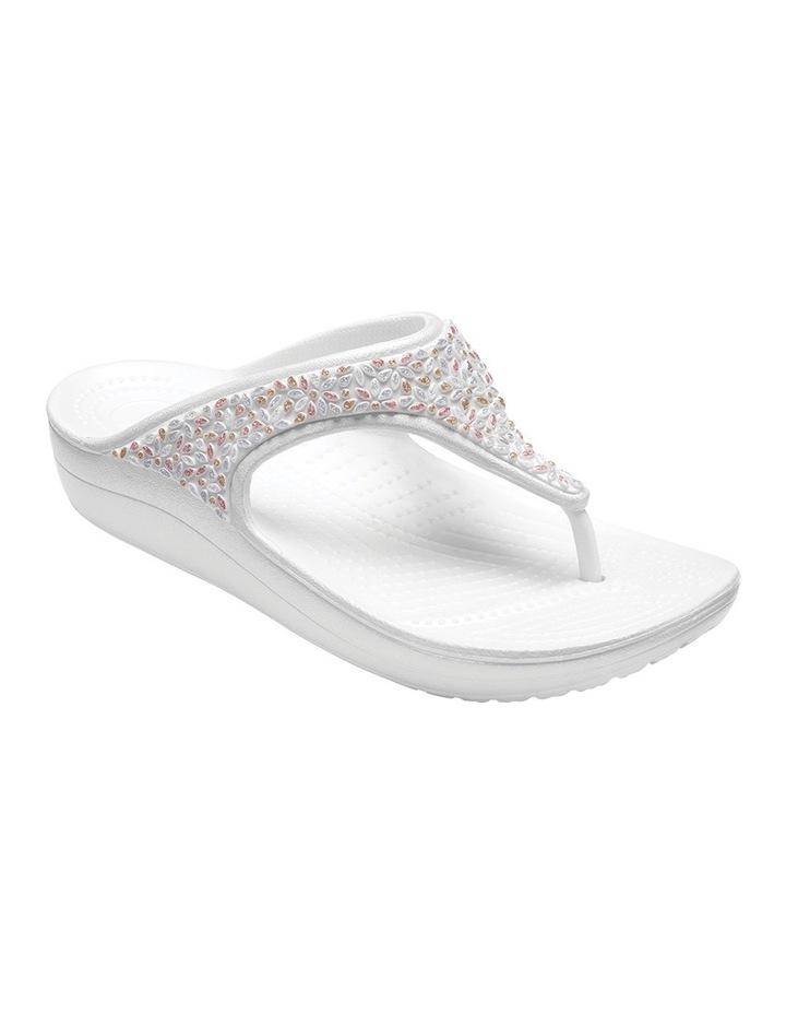 Sloane Embellished Flip Oyster/Multi Sandal 204181 image 2