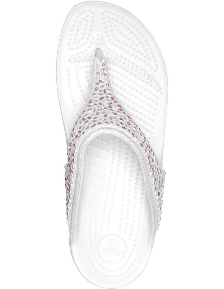 Sloane Embellished Flip Oyster/Multi Sandal 204181 image 4
