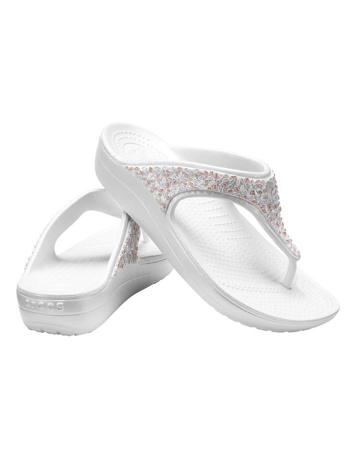 Sloane Embellished Flip Oyster/Multi Sandal 204181 image 5