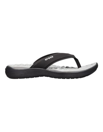 a798f6caec8bb2 Crocs Reviva Flip Black Sandal 205473