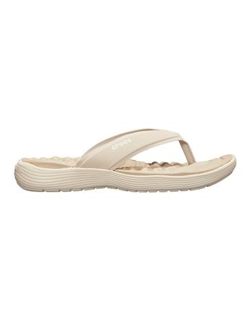 b2fc243e3cd9 CrocsReviva Flip Cobblestone Stucco Sandal 205473
