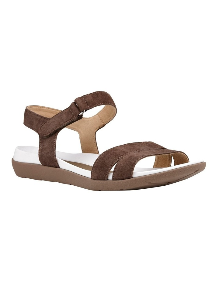 Nepal 35917 Taupe Suede Sandal image 2