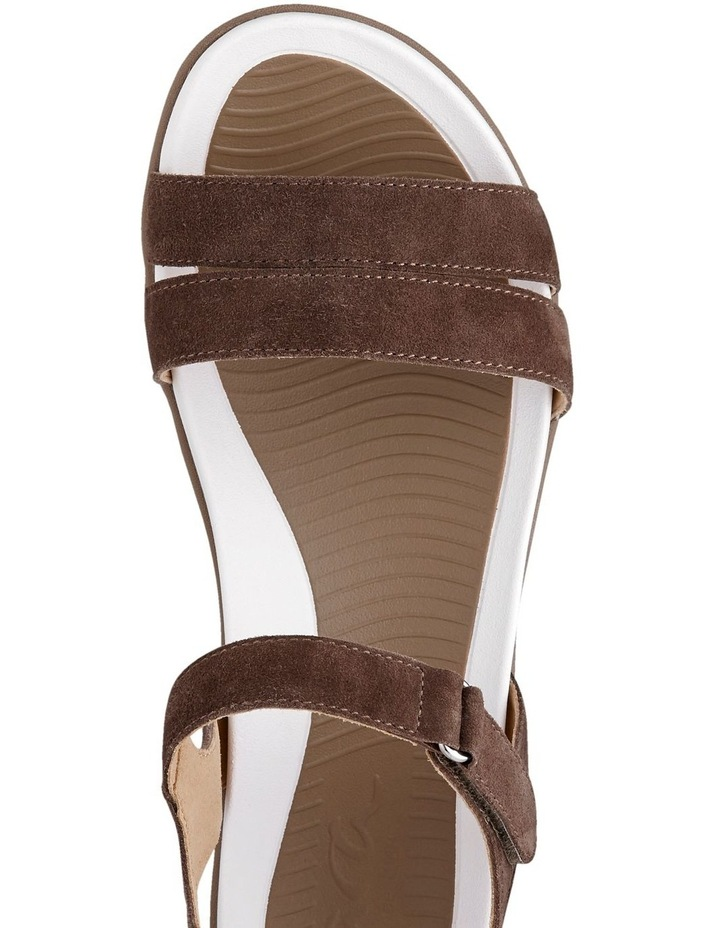 Nepal 35917 Taupe Suede Sandal image 4