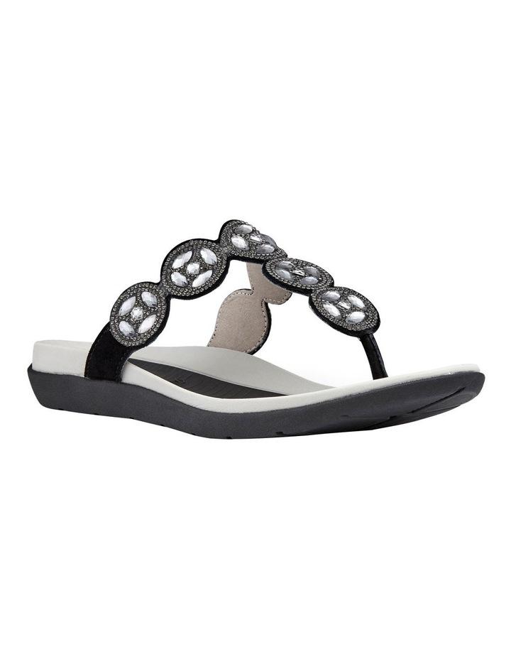Nepal 35925 Black Diamentes Sandal image 2