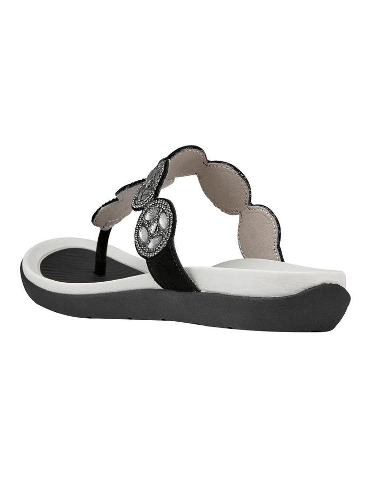 Nepal 35925 Black Diamentes Sandal image 3