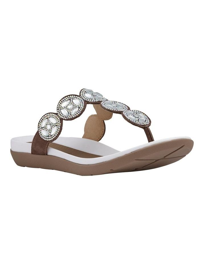 Nepal 35925 Taupe Diamentes Sandal image 2