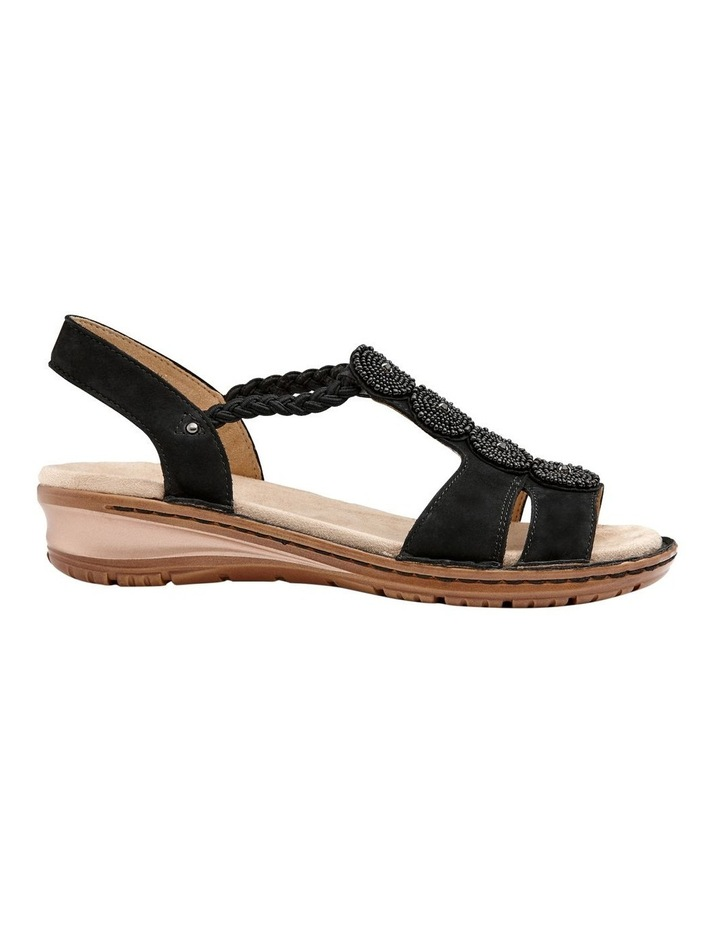 Hawaii 27217 Black Nubuk Sandal image 1