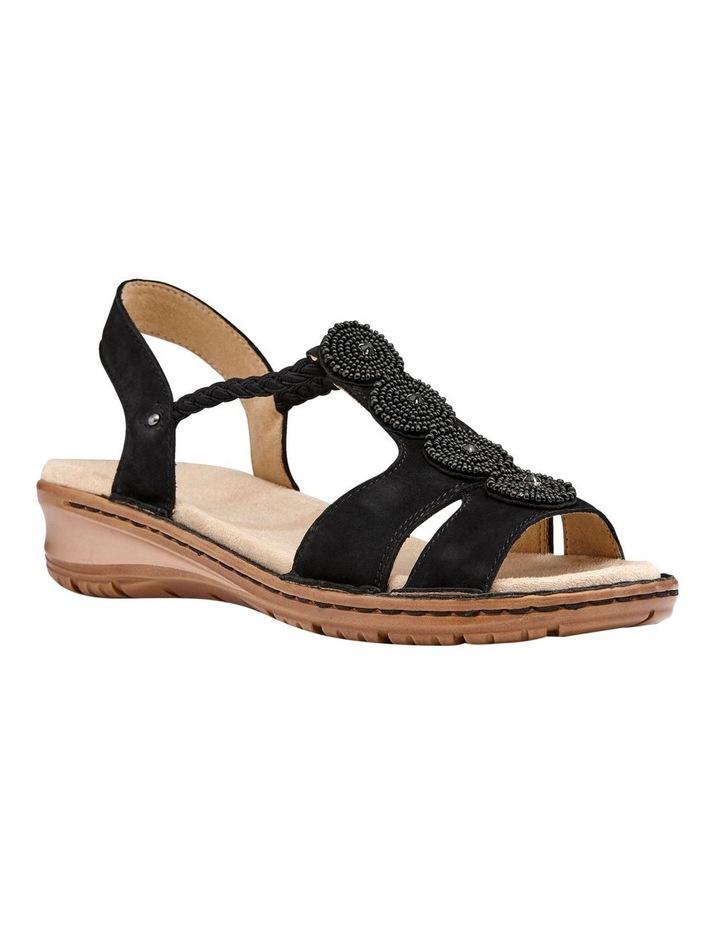 Hawaii 27217 Black Nubuk Sandal image 2