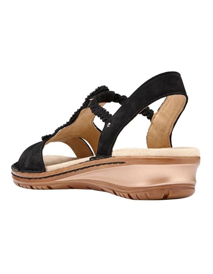 Hawaii 27217 Black Nubuk Sandal image 3