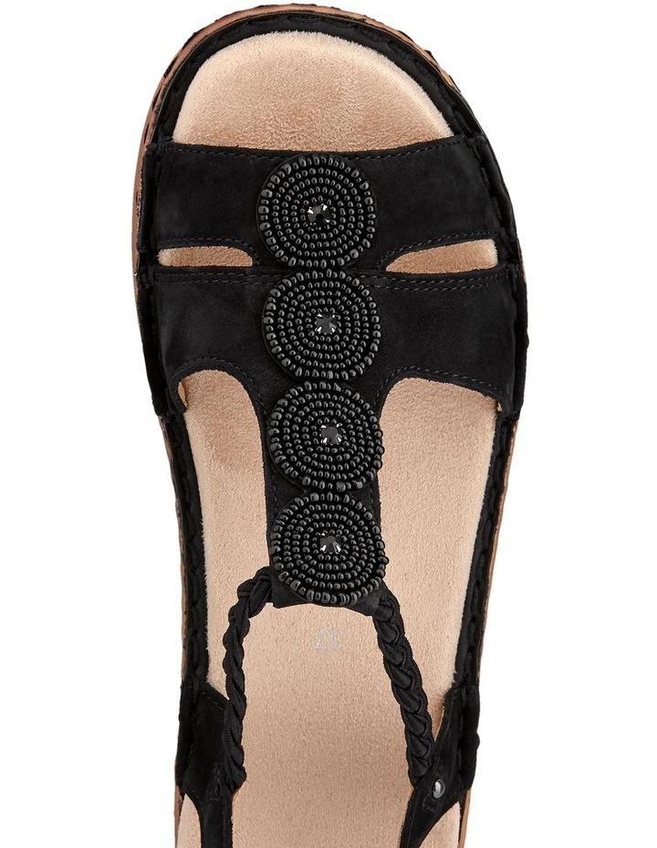 Hawaii 27217 Black Nubuk Sandal image 4