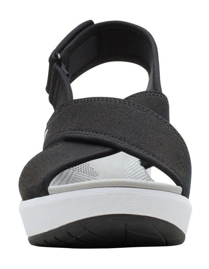 Step Cali Cove Black Textile Knit Sandal image 3