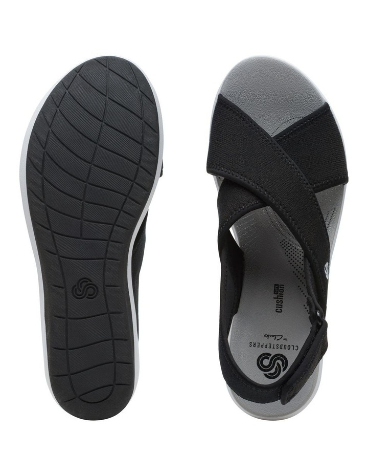 Step Cali Cove Black Textile Knit Sandal image 7