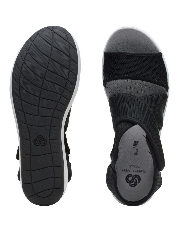 Step Cali Palm Black Textile Knit Sandal image 7