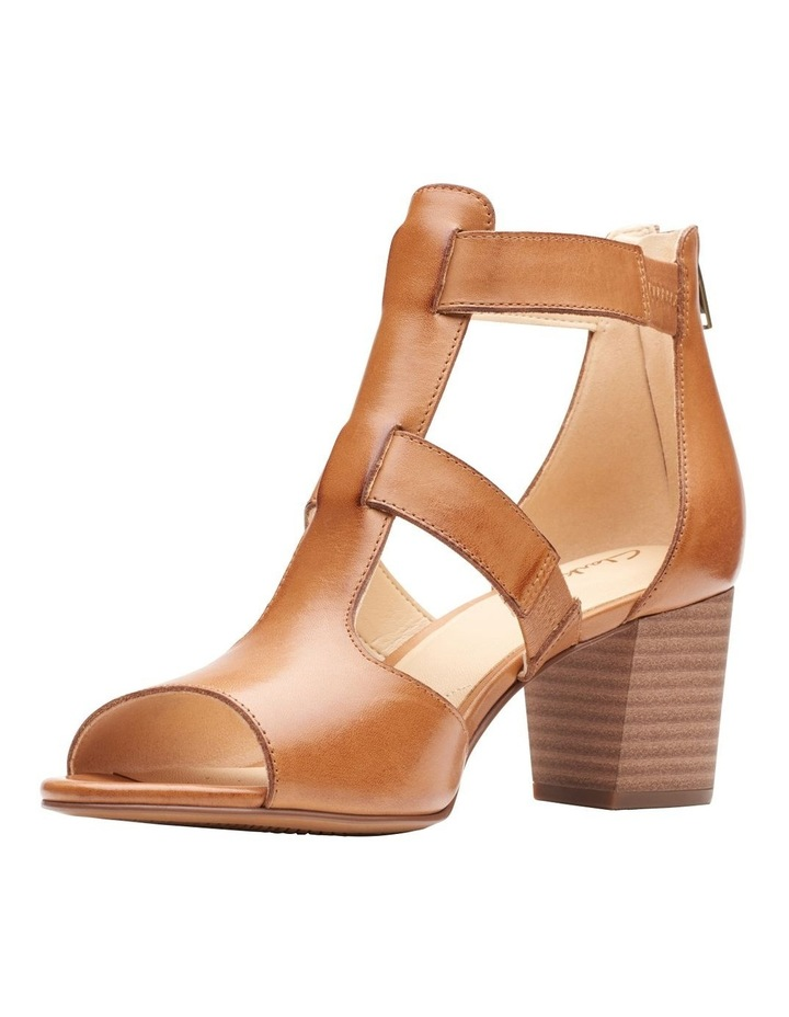 Deloria Fae Tan Leather Sandal image 4