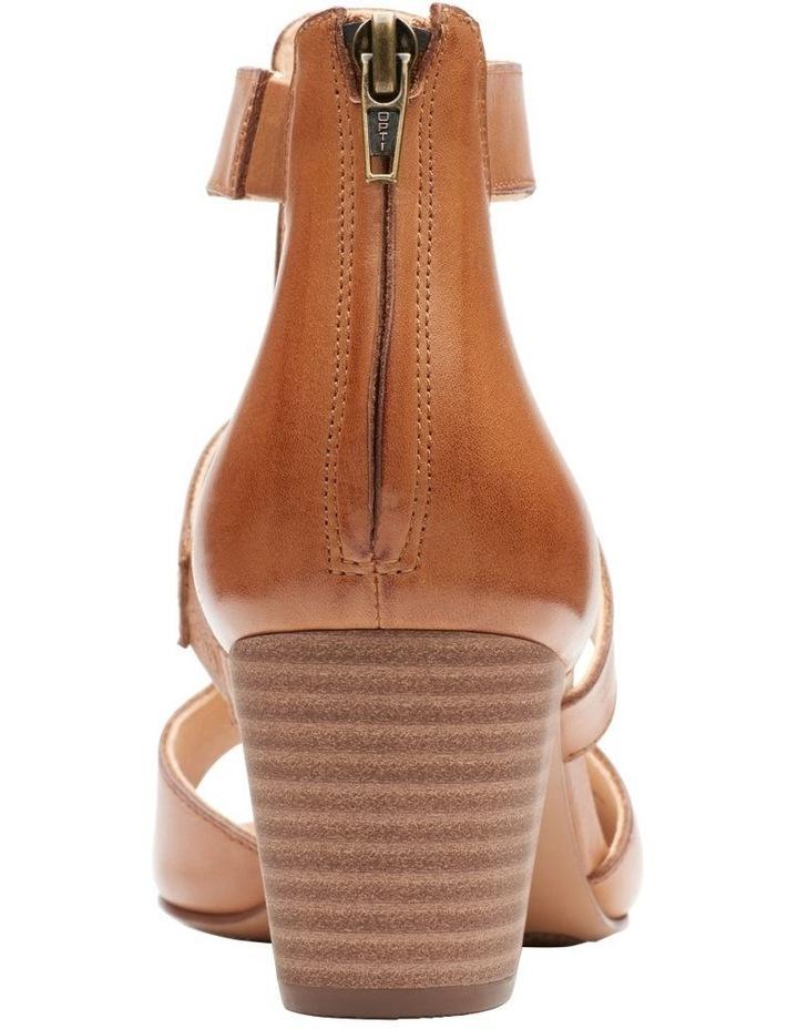 Deloria Fae Tan Leather Sandal image 6