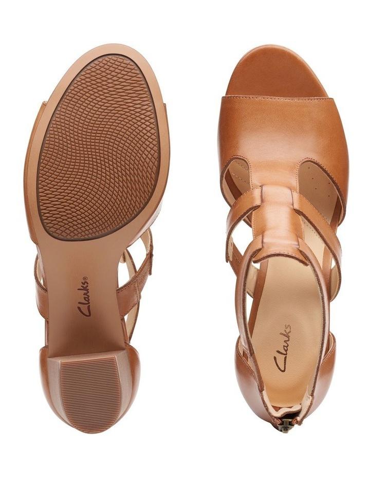 Deloria Fae Tan Leather Sandal image 7