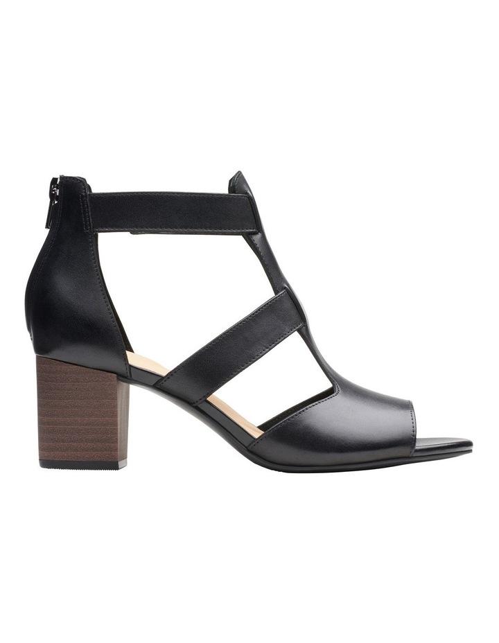 Deloria Fae Black Leather Sandal image 1