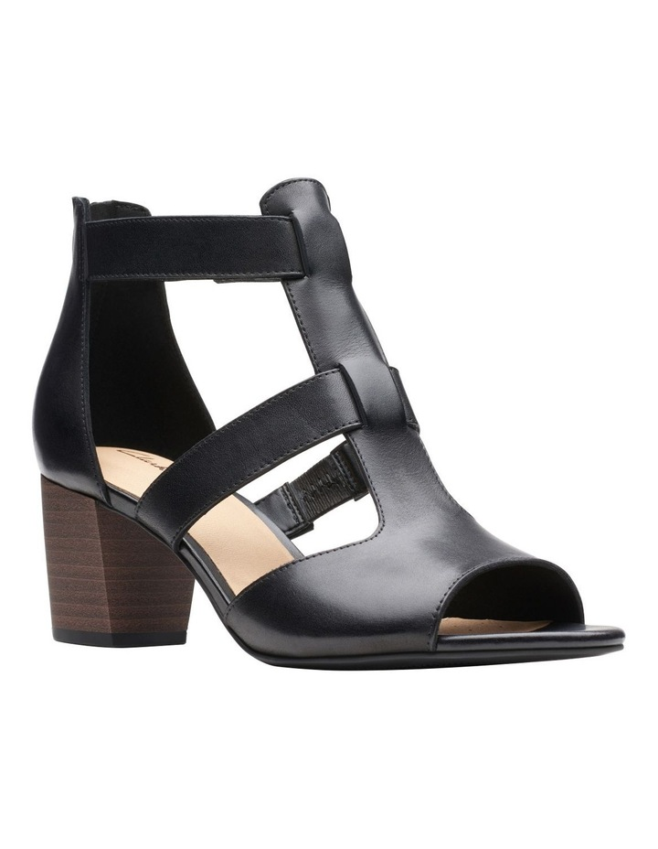 Deloria Fae Black Leather Sandal image 2