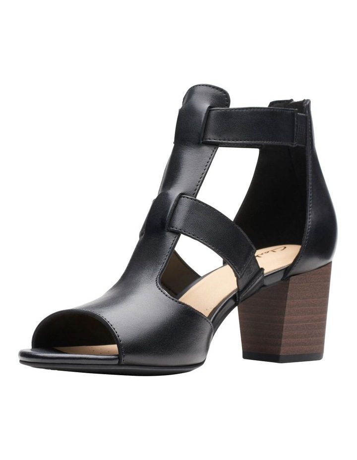 Deloria Fae Black Leather Sandal image 4