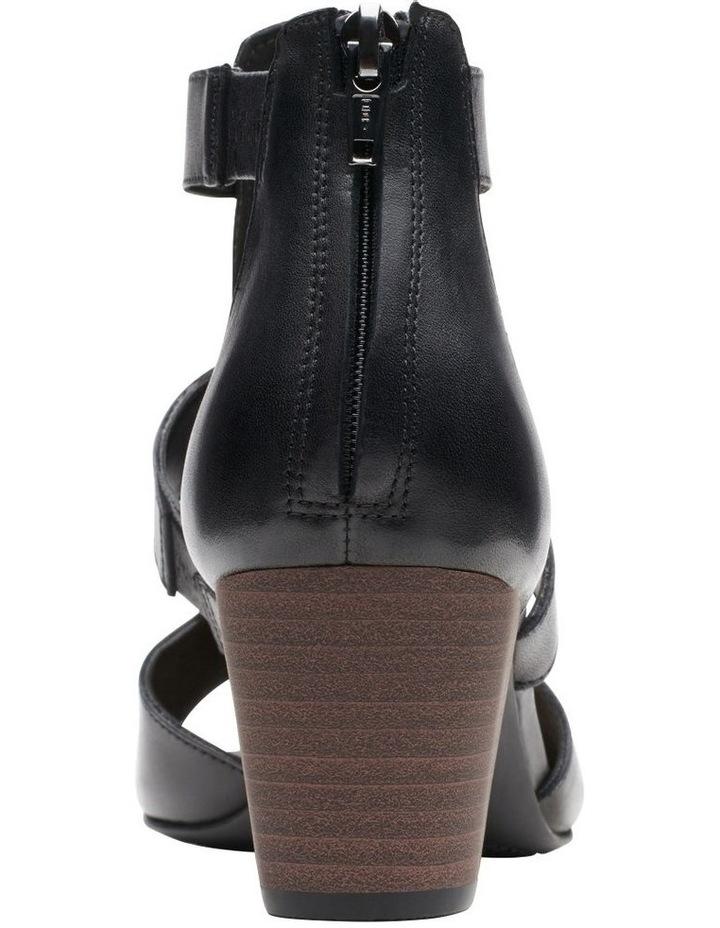 Deloria Fae Black Leather Sandal image 6