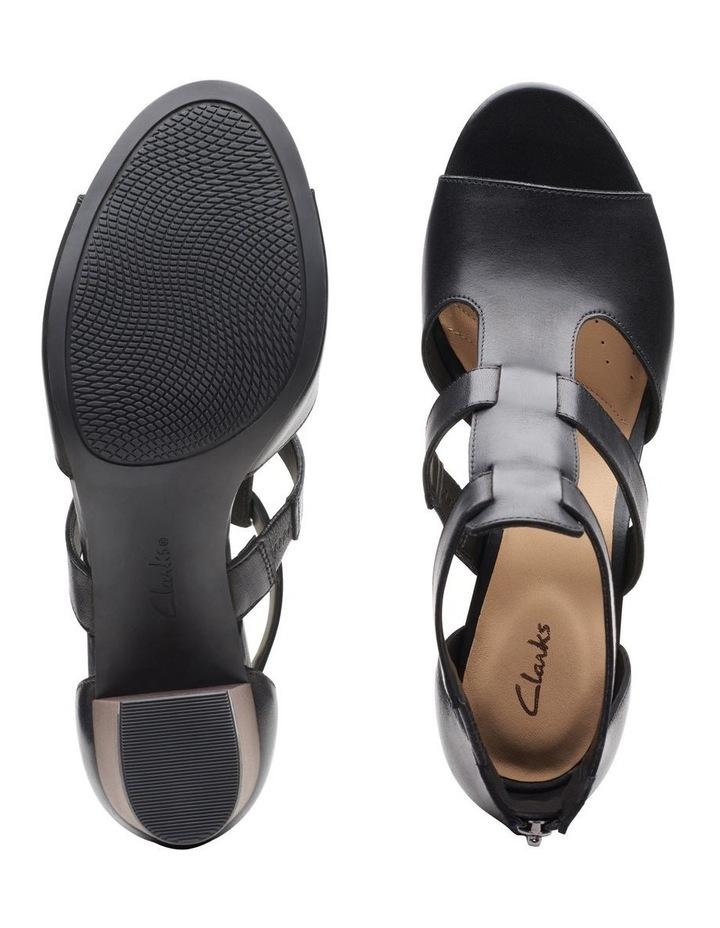 Deloria Fae Black Leather Sandal image 7