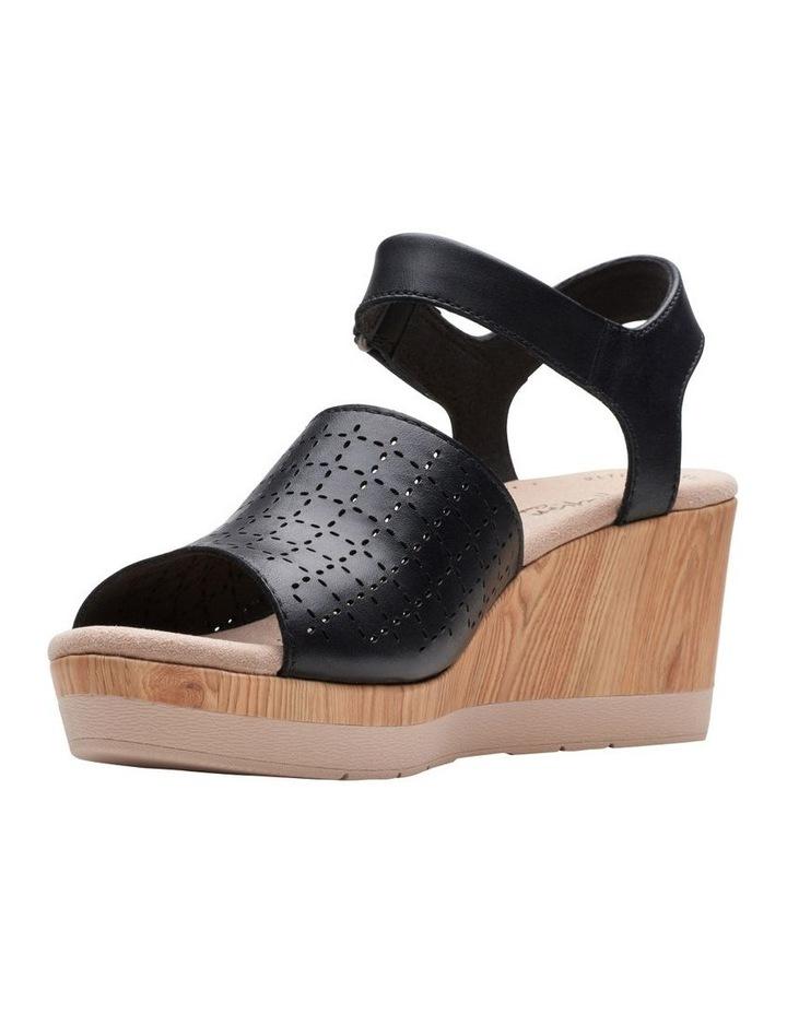Cammy Glory Black Leather Sandal image 4