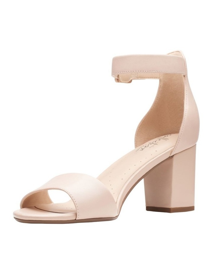Clarks Deva Mae Nude Leather Sandal
