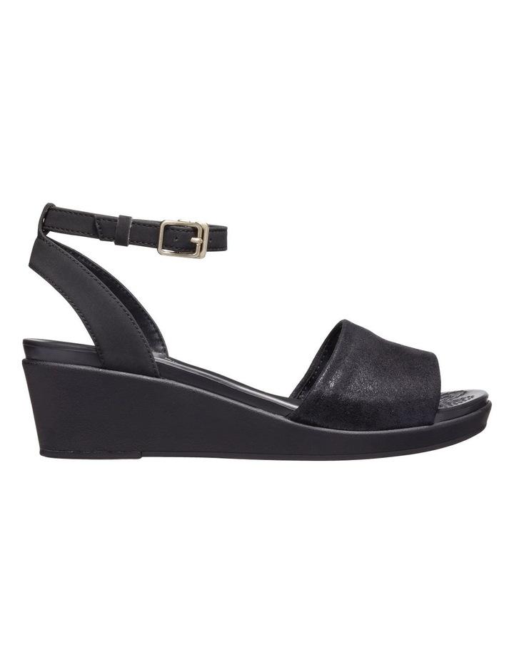 Leighann Shimmer 205786 Black/Black Sandal image 1