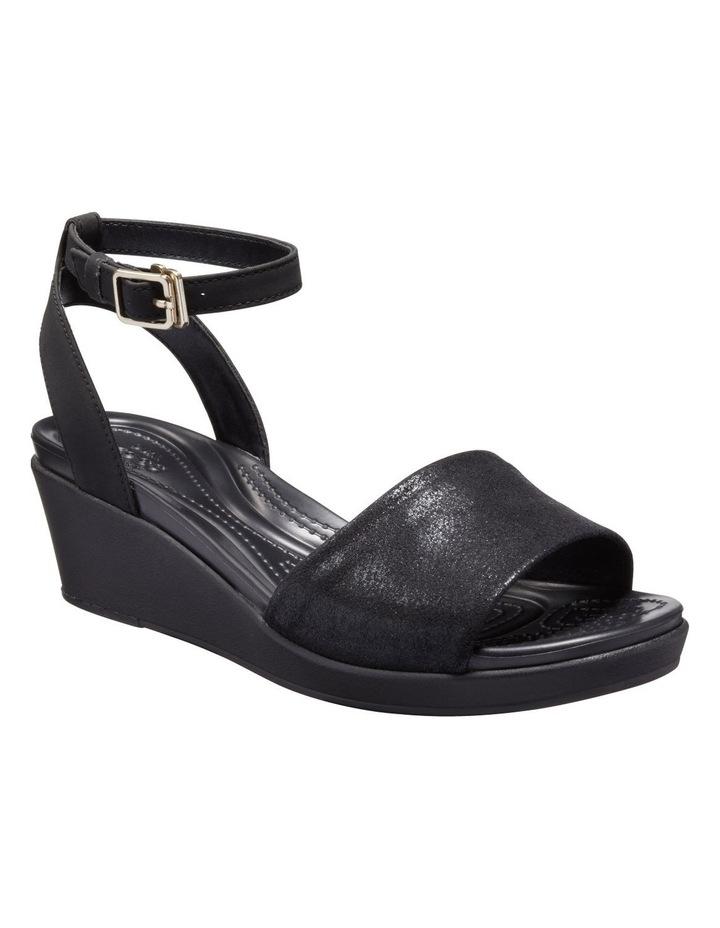 Leighann Shimmer 205786 Black/Black Sandal image 2