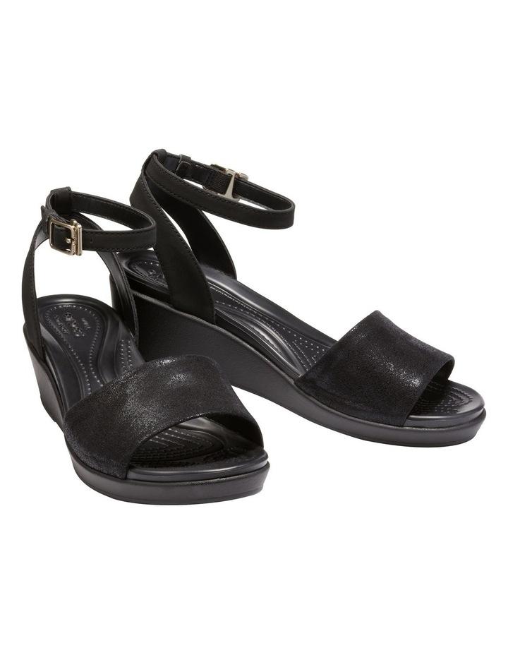 Leighann Shimmer 205786 Black/Black Sandal image 3