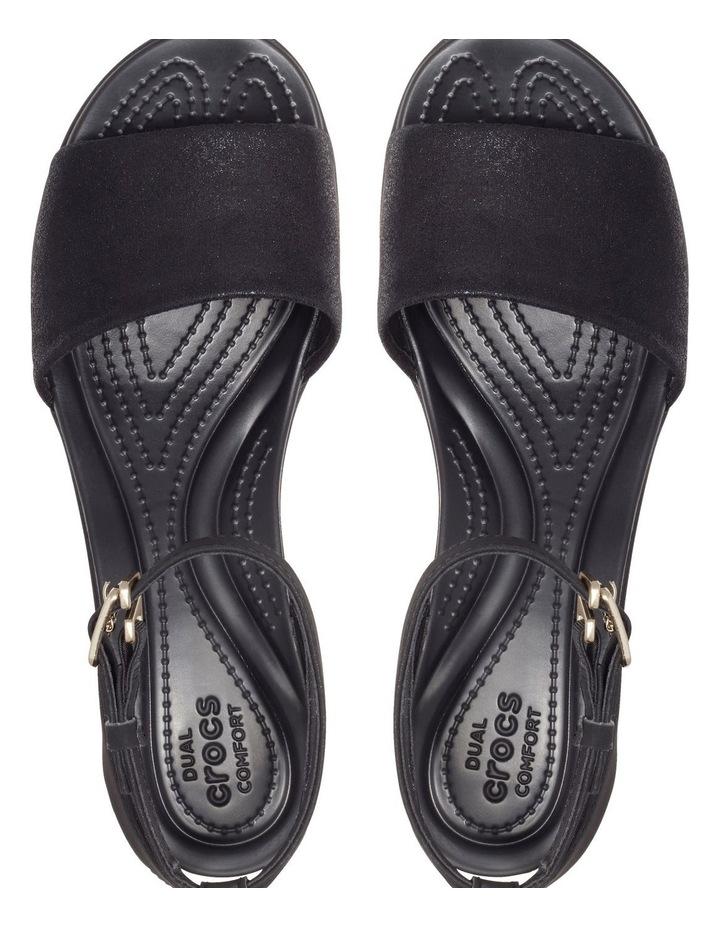 Leighann Shimmer 205786 Black/Black Sandal image 4