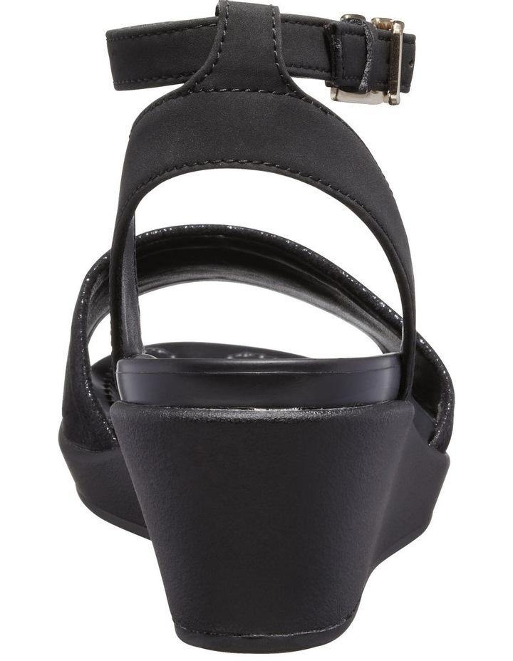 Leighann Shimmer 205786 Black/Black Sandal image 5