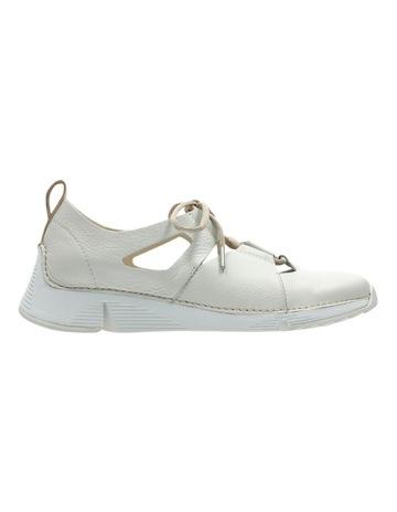 5a3118d9002c ClarksTri Sense White Leather Sneaker. Clarks Tri Sense White Leather  Sneaker