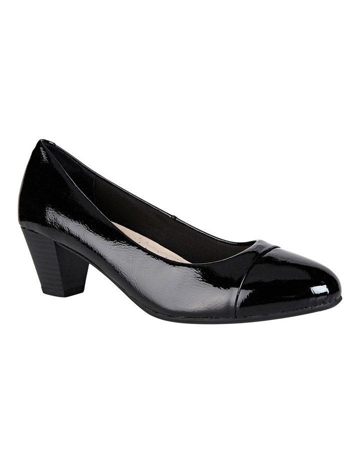 Capital Black Patent Pump image 2