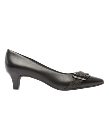 98248697f215 Supersoft by Diana FerrariLyberty Black Embossed Pump. Supersoft by Diana  Ferrari Lyberty Black Embossed Pump