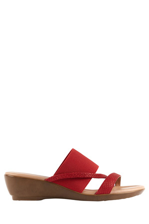 Supersoft by Diana Ferrari - Penrose Fire Red Scale Sandal