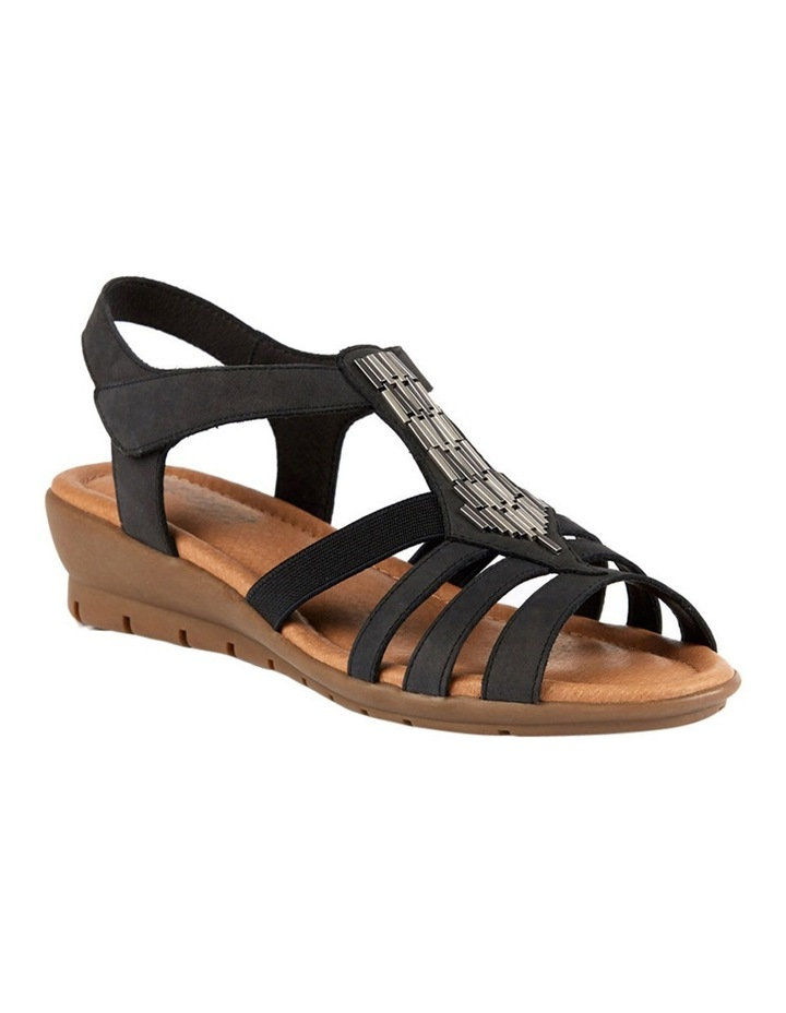 Supersoft by Diana Ferrari Fleet Charcoal Nap Sandal image 2