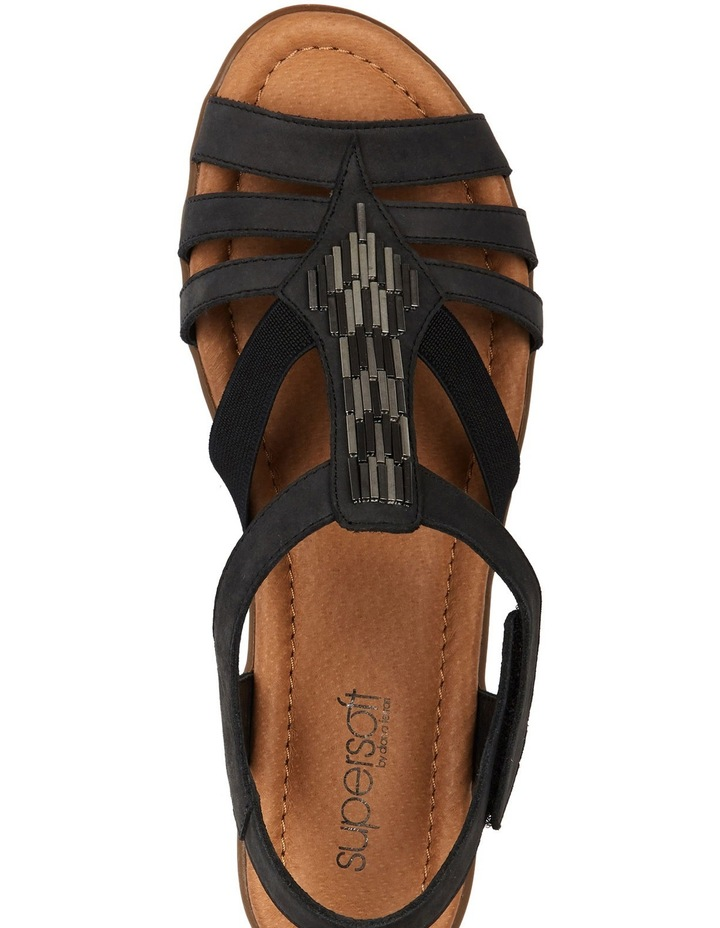 Supersoft by Diana Ferrari Fleet Charcoal Nap Sandal image 3